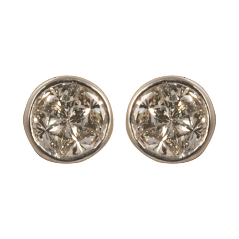 Aabha Diamond Stud Earrings - M Walters Jewellery