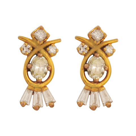 Kanika Diamond Stud Earrings - M Walters Jewellery