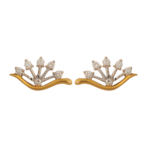 Balya Diamond Stud Earrings - M Walters Jewellery