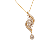 Agamya Diamond Gold Pendant - M Walters Jewellery