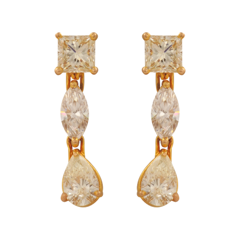 Karnika Elegant Diamond Drop Earrings - M Walters Jewellery