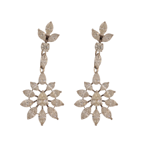 Karnika Partywear Diamond Drop Earrings - M Walters Jewellery