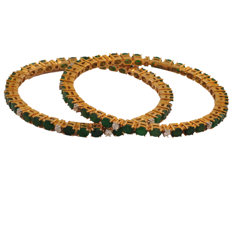 buy bangles online emerald swarovski kameswari from jewellers