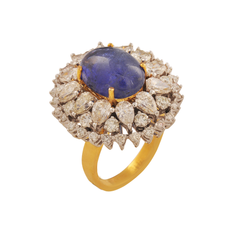 Divi Diamond Blue Tanzanite Gold Rings - M Walters Jewellery