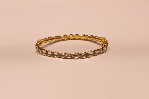 Shri Classic Kundan Gold Bangle - M Walters Jewellery