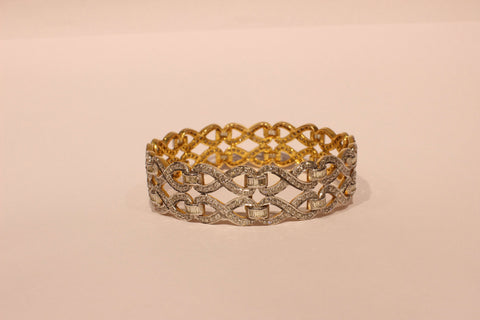 Shri Partywear Stylish Diamond Broad Bangle - M Walters Jewellery