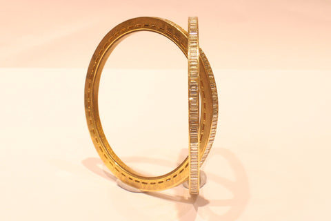 Shri Evergreen Square Diamond Bangles - M Walters Jewellery