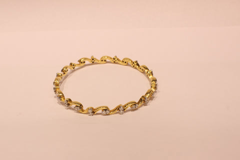 Shri Fabulous Designer Diamond Gold Bangle - M Walters Jewellery