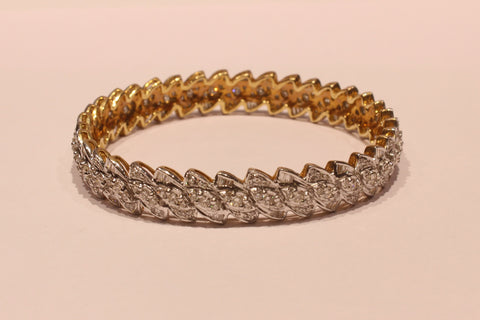 Shri High Quality Diamond Gold Bangle - M Walters Jewellery