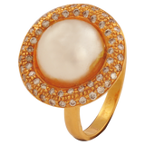 Saumya Diamond Pearl Gold Rings - M Walters Jewellery