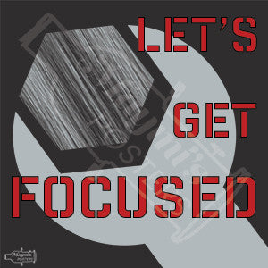 Let's Get Focused!, Sticker, Maymí's Posters - Maymí's Posters