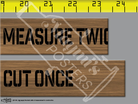 Measure Twice, Cut Once Poster