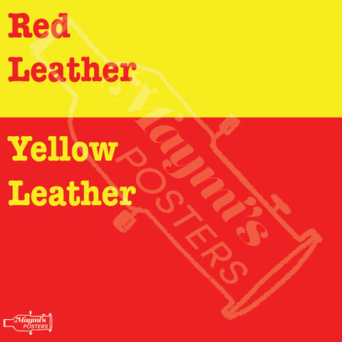 Red Leather, Yellow Leather Sticker