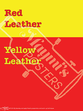 Red Leather Yellow Leather Poster, Tongue Twister Poster, Maymí's Posters - Maymí's Posters