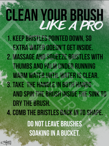 Clean Your Paint Brush Like a Pro Technical Theatre Poster