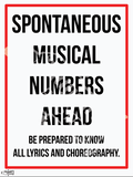 Road Signs of Musical Theatre Poster Collection