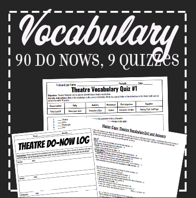 9 Theatre Vocabulary Quizzes