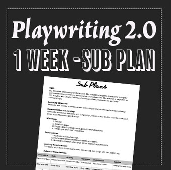 EMERGENCY THEATRE SUB PLAN: Playwriting 2.0