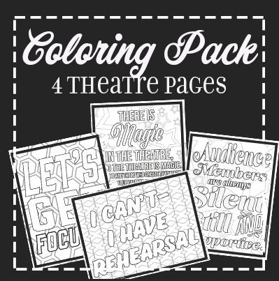 Coloring Pack: Theatre Pages