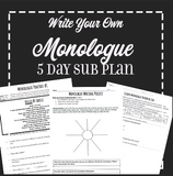 EMERGENCY THEATRE SUB PLAN: 5 day Monologue Packet