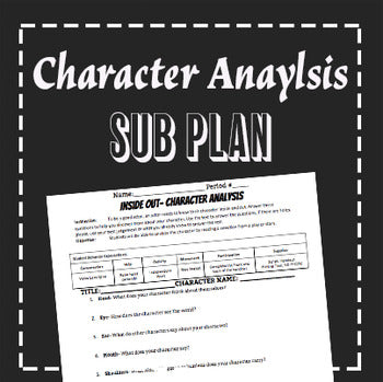 EMERGENCY THEATRE SUB PLAN: Character Analysis