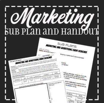 EMERGENCY THEATRE SUB PLAN: Theatre Marketing