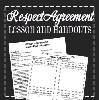 Respect Agreement Theatre Lesson Plan and Handout