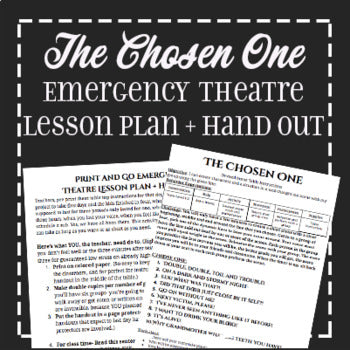 EMERGENCY THEATRE SUB PLAN: Devising Theatre Sci Fy Prompts