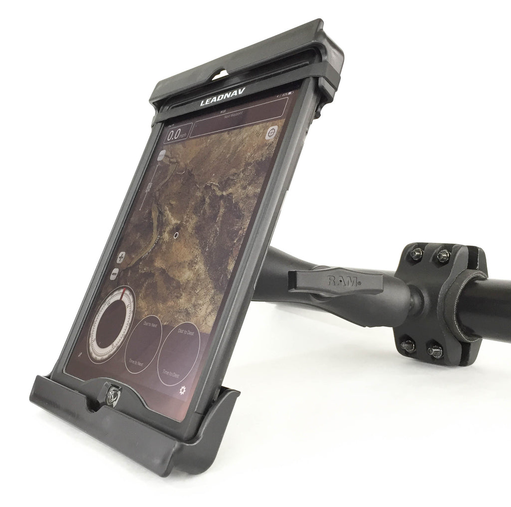 "iPad Air 2 / Pro 9.7"" / Pro 10.5"" Mounting Package with RAM® Mounts Large Cage Bracket and Medium Arm"