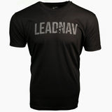 "LEADNAV ""LowVis"" - Gray on Black - Distressed"