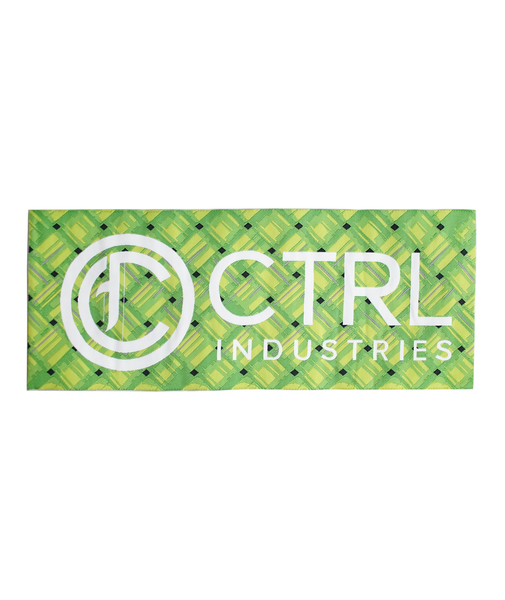CTRL PATCH (WHITE ON WOVEN GREEN PALMS)