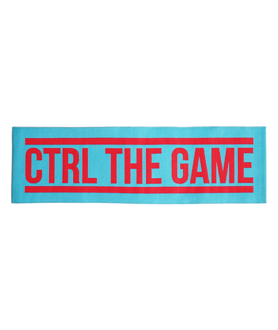CTRL THE GAME (RED ON TURQUOISE)