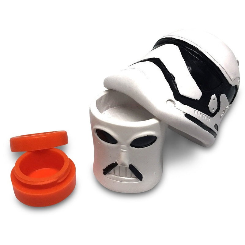 Trooper Head Nonstick Silicone Container (10 for $15)