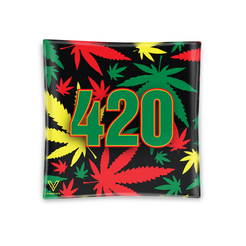 Rasta 420 Glass Ashtray