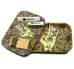 Afghan Hemp - Metal Tray Kit w/ Magnetic Lid (4 colors)