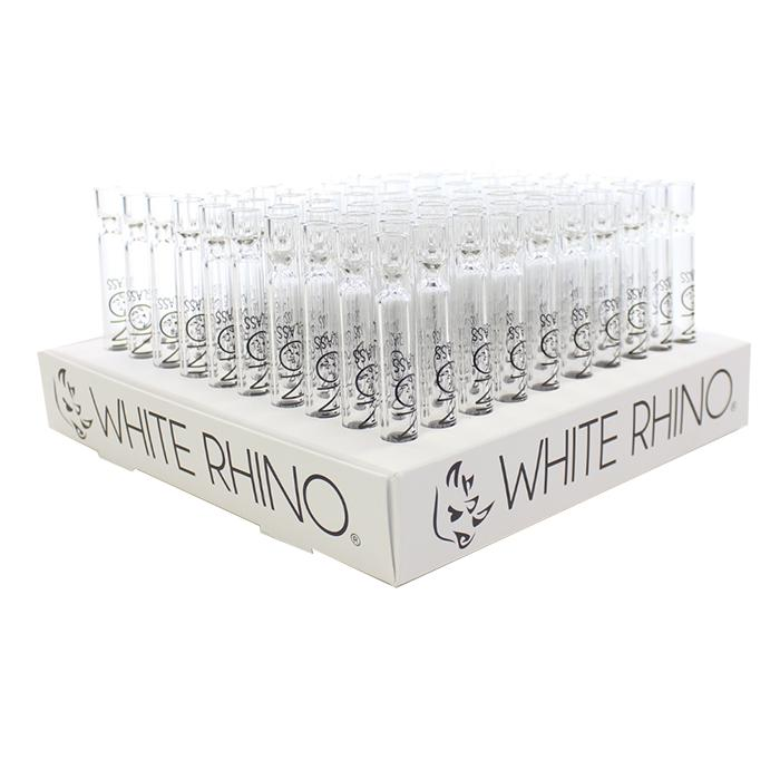 White Rhino - Glass Chillum (100 Pcs)