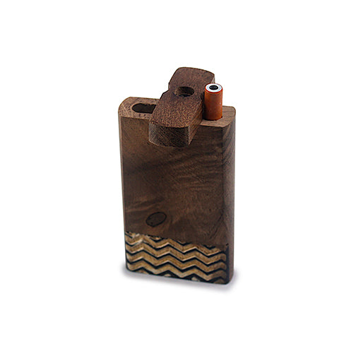 Handmade Wooden Wave Pattern Dugout w/ One Hitter