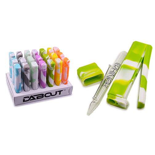 Dab Out Container w/ Quartz Straw Glow-in-Dark (Display of 21)