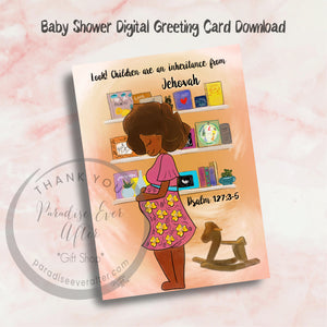 "Baby Shower Congrats Instant Download Greeting Card VERSION 2 (5""x7"")"