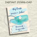 "Bautismo (SPANISH) Instant Download Greeting Card (5""x7"" folded)"