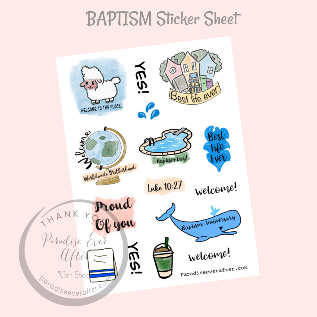 Baptism Sticker Sheet