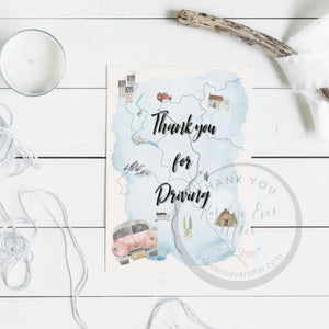 Service car group: Thank You for Driving Greeting Card