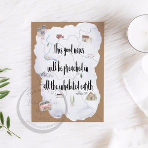 Good News will be Preached Greeting card