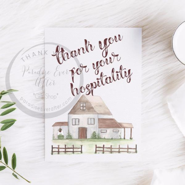 Hospitality Gratitude Greeting Card