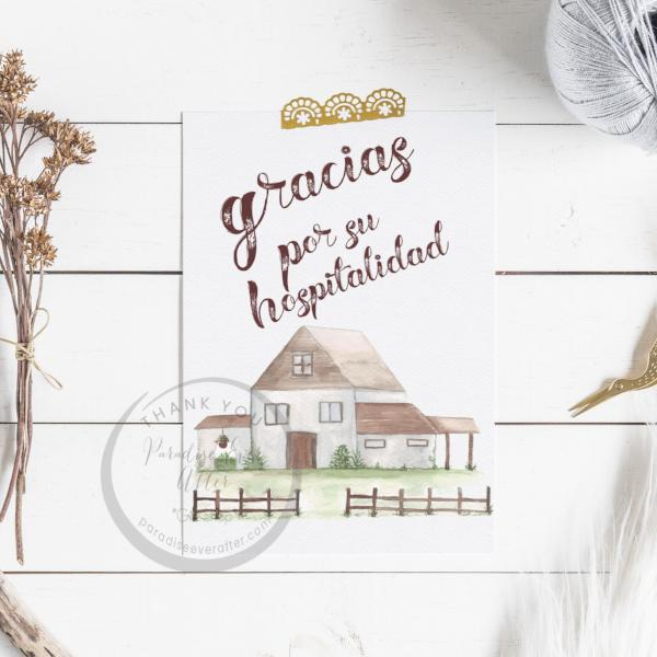 Hospitalidad Greeting Card (Spanish)