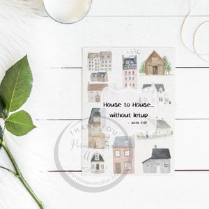 House to House Greeting Card