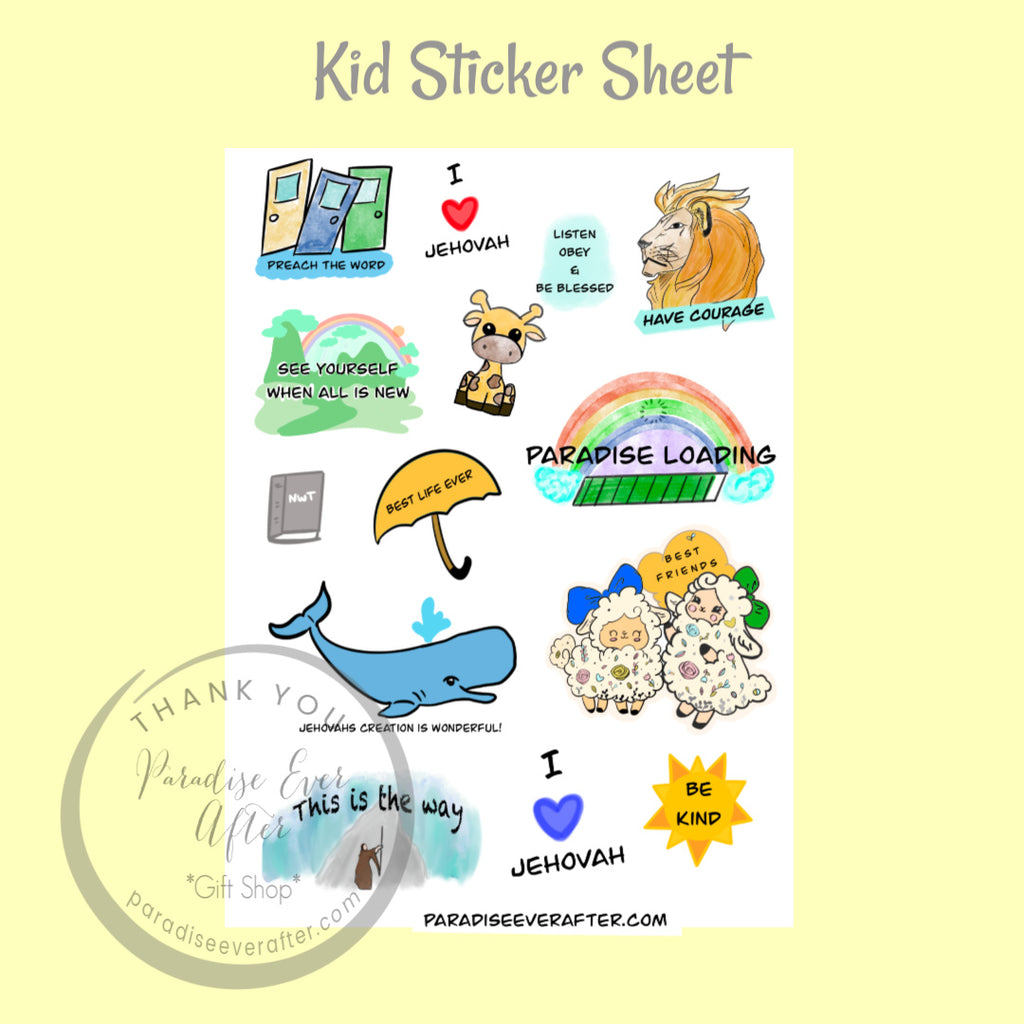 Kids Sticker Sheet