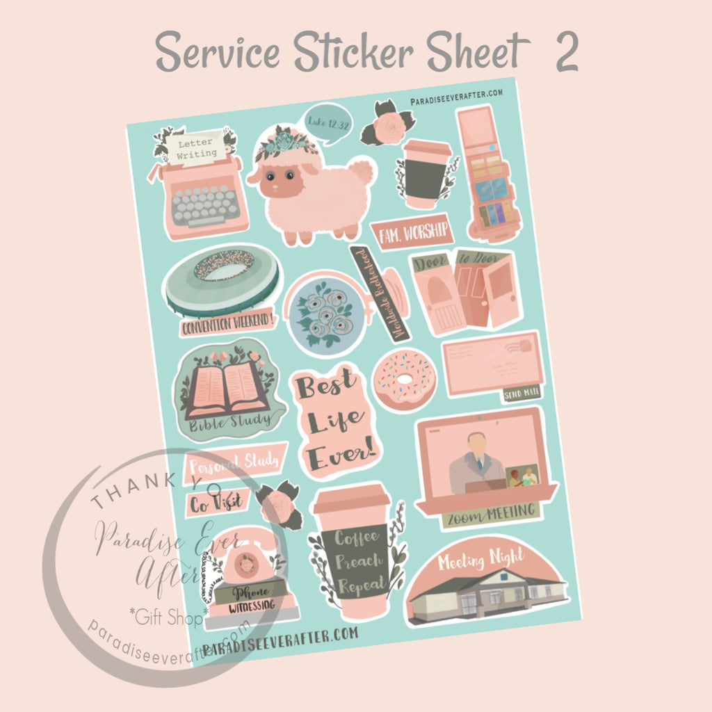 Service Activity Sticker Sheet pt 2