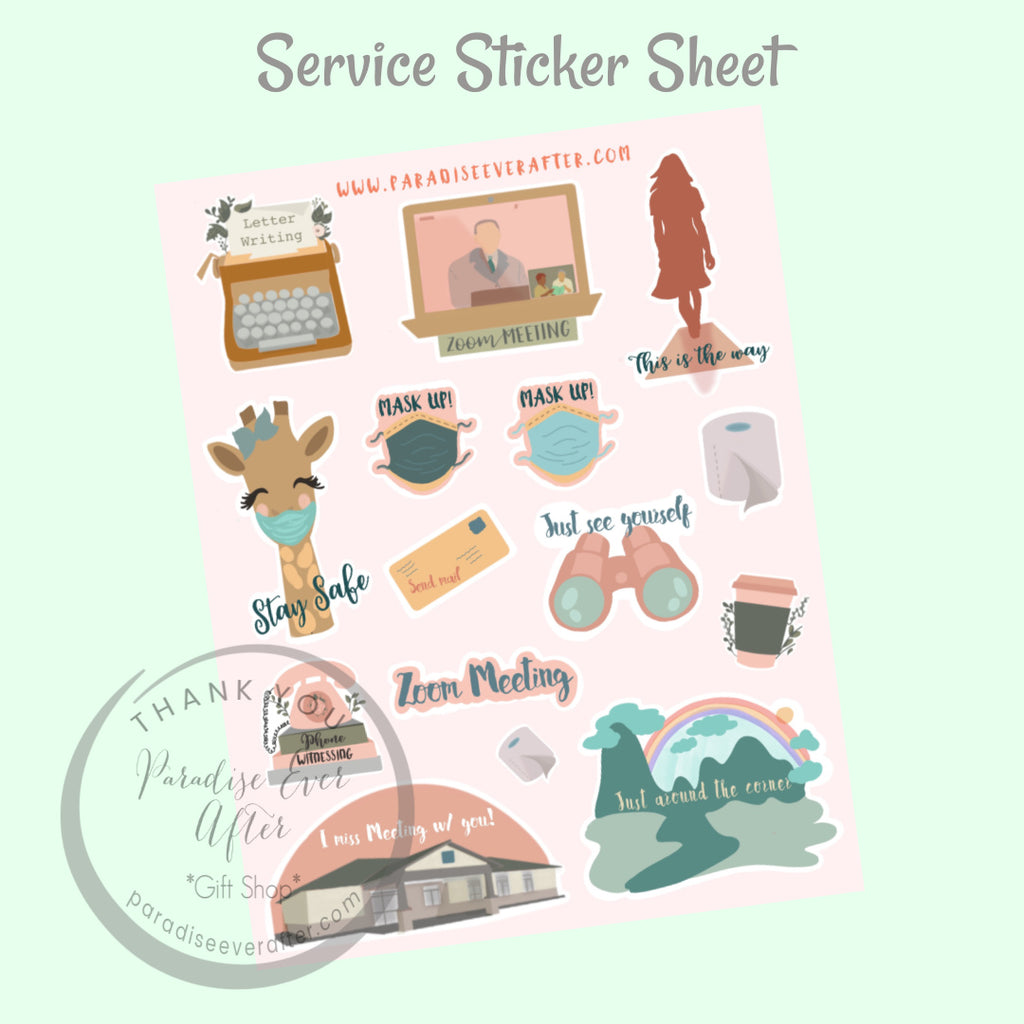 Service Activity Sticker Sheet