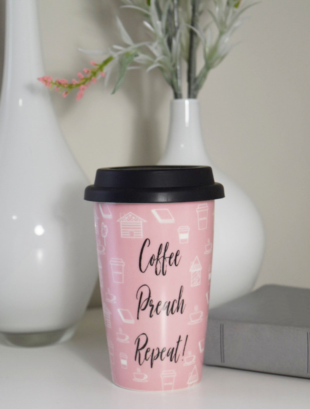 Coffee,Preach,Repeat Travel Mug